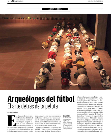«Arqueologos del futbol popular», reportage de Pierre Arrighi